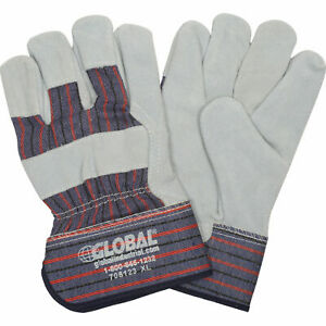 Leather Palm Safety Gloves With 2 1 2 Safety Cuff X large 1 Pair Lot Of 12
