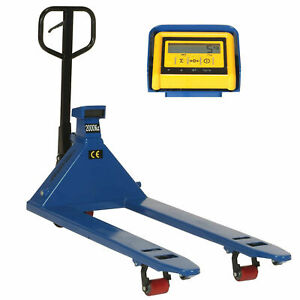 Pallet Jack Scale Truck With Weight Indicator 27 X 48 4400 Lb Capacity