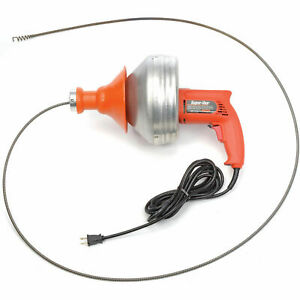 General Wire Super vee Drain sewer Cleaning Machine W 25 X 5 16 Cable
