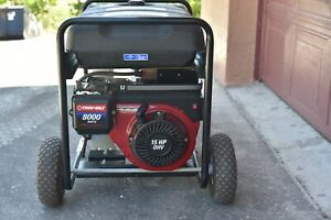 Troybilt Generator 8000 Watt With Electric Start