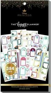 Disney The Happy Planner Princess Colorful Boxes Value Pack Stickers Mambi