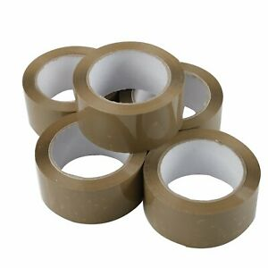 36 Rolls 2 x110 Yards 330 Ft 2 Mil Brown Carton Packing Package Tape Shipping