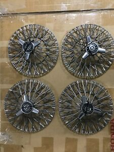Nos Oem 13 Appliance Wire Wheel Hub Cap Covers Complete W Caps Bolts And Key