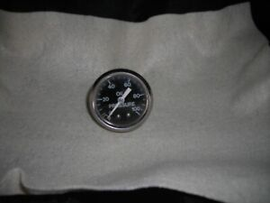 Vintage Oil Pressure Gauge Made Usa Untested