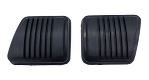 Black Rubber Brake Clutch Pedal Pads For 1979 1993 Ford Mustang