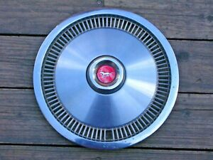 Vintage Ford Mustang 1974 77 Chrome Hubcap 13 Wheel Cover Red Center Cap