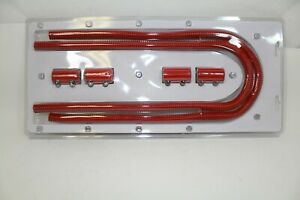Heater Hose Kit 44 Universal Stainless Hose Aluminum End Caps Red Coating