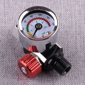 Air Regulator Pressure Gauge Compressor Tool Fit For Devilbiss Iwata 0 140 Psi