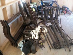Large Vintage Model T Ford Chassis Parts Lot Of Approx 60 Parts Or Assemblies