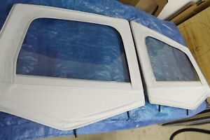 Nos Jeep Yj Wrangler 1 2 Hard Door Fabric Uppers W Frames Frost White 1988 1995