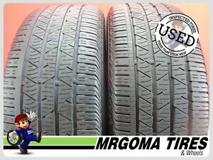 2 Continental Crosscontact Lx Sport Ao Xl 255 55 19 Used Tires 66 Rmng 2555519