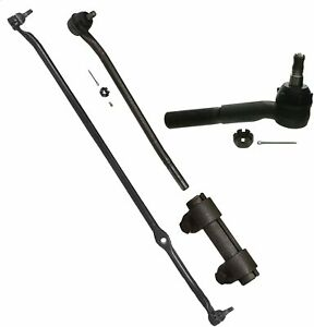 4 Pc Steering Kit F100 F250 65 71 Rwd Center Link Tie Rod Ends Sleeves