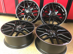 Mercedes 18 Inch Rims Wheels Set4 New 18 8 5 18 9 5 Exclusive E350 Fit Rwd Amg