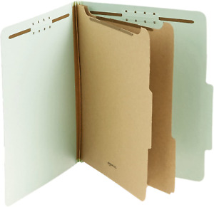 Basics Pressboard Classification File Folder With Fasteners 2 Dividers 2 Inch