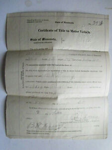1918 Reo Barn Find Historical Documents
