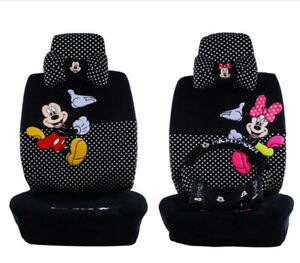 18ps Set New Cute Mickey Mouse Universal Car Seat Covers Seat Cushion Plush 803