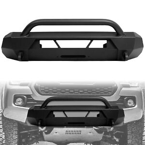 Front Bumper Guard Bull Bar For 16 20 Toyota Tacoma Steel Powder Coated Black