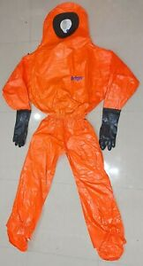 Drager Tychem Spc 3800 Chemical Protective Suit Size L