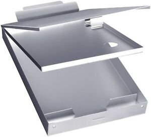 Silver Clipboard Case Folder Storage Contractor Double Layer Coach Letter Size