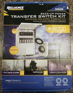 Reliance Controls Back up Power Transfer Switch Kit 306lrk Up To 8000 Watts