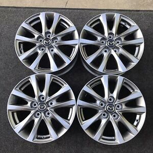 Set 4 16 Inch Wheels Mazda 3 2007 2021 Oem Genuine Grey 64970