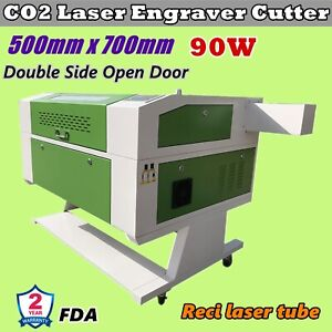 20 X 28 Reci 90w Co2 Laser Engraver Cutter With Double Side Open Door Fda