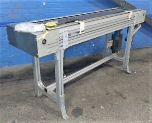 Mk Automation Power Roller Conveyor 18 Inch X 72 Inch Aluminum
