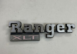 1983 1988 Ford Ranger Xlt Fender Side Emblem Badge Logo Oem Both Tabs Great
