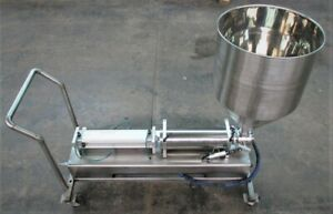Portable Piston Filler Air Operated Stainless Steel Sanitary 5000ml Fill