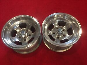 Et Iv Vintage Aluminum Slot Mag Rims With Caps Slotted Wheels Gasser Hot Rat Rod