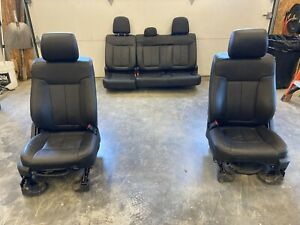 2011 2014 Ford F150 Complete Set Of Black Leather Seats