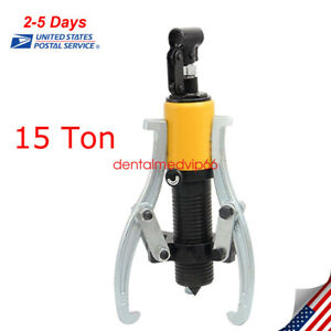 15t Hydraulic Gear Wheel Bearing Puller 3 Reversible Jaws Extractor usa