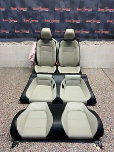 2017 Ford Mustang Gt Oem Grey Front Rear Seats Convertible Blown Bag