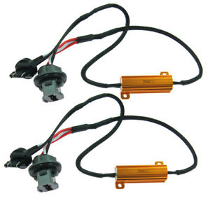 2pc 7440 7443 Led Canbus Load Resistor Wiring Harness Decoder Turn Signal Lights