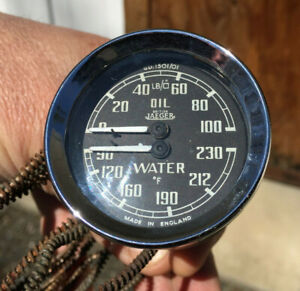 Mga Smiths Vintage Oil Pressure Water Temperature Duplex Gauge Gd 1501 01