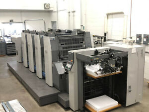 Ryobi Printing Press 754xl a 4 color 30 Rmgt 760st 4 Komori Heidelberg