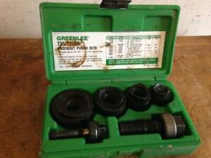 Greenlee Knockout Punch Set 735bb 1 2 1 1 4 In Green Case