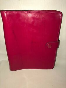 Filofax The Original Pink Patent Leather Personal Organizer Agenda Made In Uk