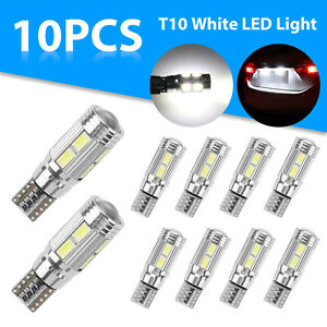 10x T10 194 192 168 Led Interior License Plate Dome Map Light Bulbs 6000k White