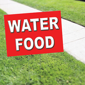 Water Food Indoor Outdoor Double sided Portable Rust Proof Coroplast Yard Sign