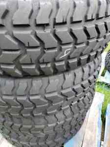 6 Goodyear Wrangler Mt 37x12 50r16 5 Military Humvee Mud Truck Tires And Wheels