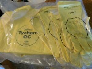 3 Pair Yellow Dupont Tychem Qc Coveralls Size 3xl With 3 Pair Gloves New