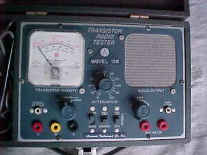 Accurate Instruments 158 Transistor Radio Tester Military Surplus New Old Stock