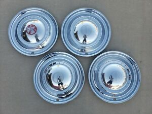 Oem 1951 Kaiser Frazer 15 Hubcaps Wheelcovers Center Caps Set 4 Free Shipping