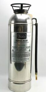 Vintage Sears Soda Acid Fire Extinguisher 2 5 Gallons Stainless Steel