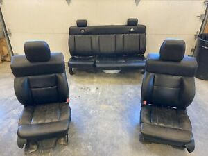 2004 2008 Ford F150 Complete Set Of Black Leather Seats