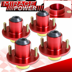 For 88 2000 Civic 4 Pieces Suspension Coilover Shock Strut Top Hat Mount Red