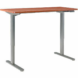 Interion Electric Height Adjustable Standing Desk 60 w X 24 d Cherry W Gray