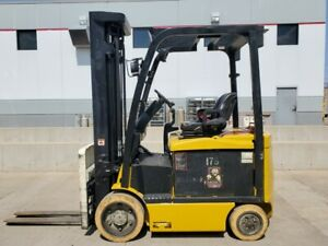 2015 Yale Erc060vgn48te098 Electric 3 Stage Mast Forklift Lifttruck Lift Hyster
