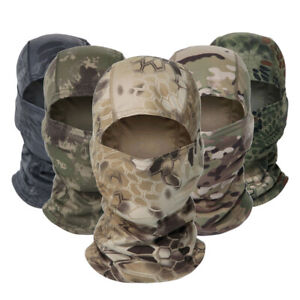 Outdoor Military Tactical Helmet Liner Gear Full Face Cover Camouflage Balaclava $7.99